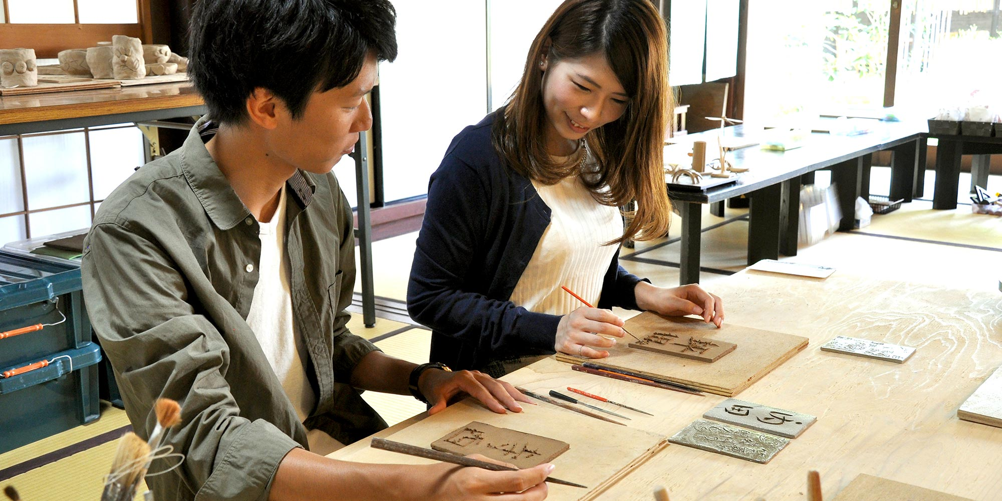 Echizen-ware Pottery board making experience